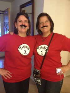 Thing 1 and Thing 2 - With Mustaches